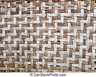pattern of old Thai house wall for background and texture....