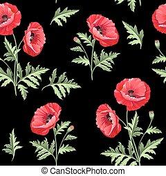 Pattern of poppy flowers.