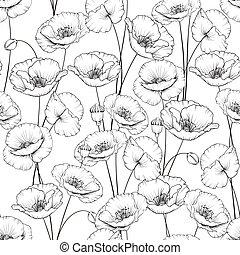 Pattern of poppy.