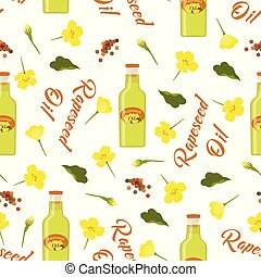 pattern of rapeseeds and flowers - seamless rapeseeds and ...