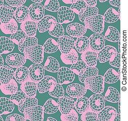 pattern of raspberry