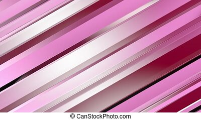 Pattern of red color strips prisms. Abstract background. 3D...