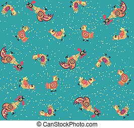 pattern of rooster