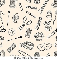 Pattern of sewing kit