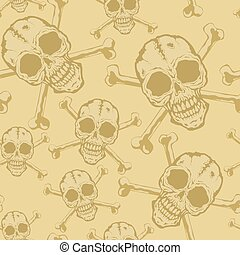 Pattern of skulls - Seamless background from a skull with...