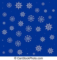 pattern of snowflakes icons