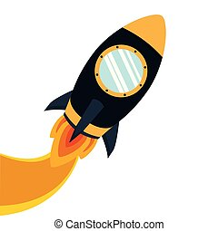 pattern of space rocket in white background