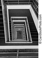 Pattern of square stair