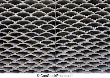 pattern of Stacked chinese roof tiles background