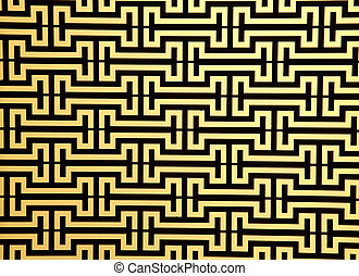 pattern of steel rod windows frame on yellow