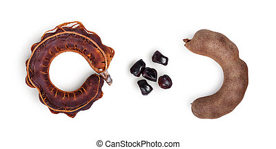 pattern of tamarind isolated on a white background