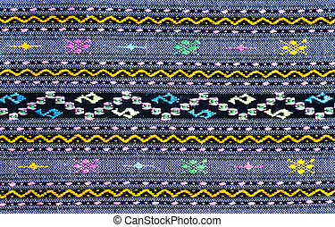 Pattern of thai hand made cotton fabric