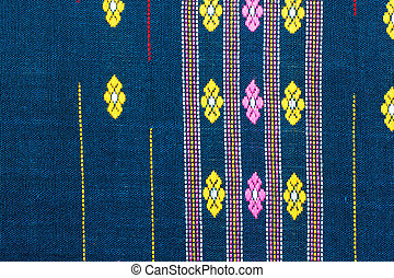 pattern of Thai hand made fabric , background