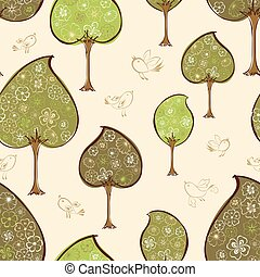 pattern of the decorative trees