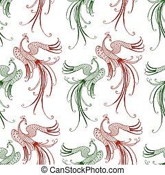 Pattern of the fabulous flying birds