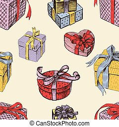 pattern of the gift boxes