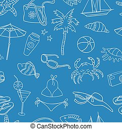 pattern of the theme of beach holiday