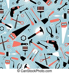 pattern of tools for repairing