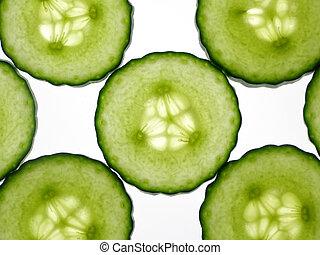 cucumber slices - Pattern of transparent green cucumber...