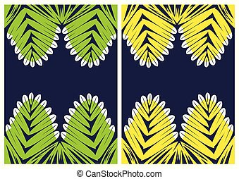 Pattern of tropical leaves