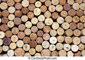 pattern of used wine bottles corks