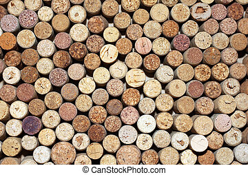 pattern of used wine corks