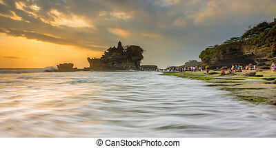 Pattern of Waves - Sunset at Tanah Lot