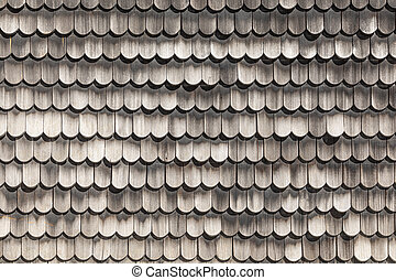 pattern of weathered wooden shingles