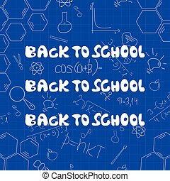 Pattern of welcome back to school. Vector illustration.