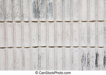 Pattern of White Modern stone Brick Wall Surfaced
