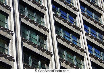 Pattern of windows on city building