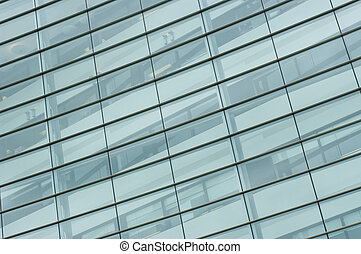 Pattern of windows on office building