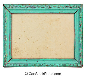 wood frame - Pattern of wood frame carve on white background
