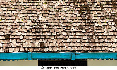 Pattern of wooden roof of old house.