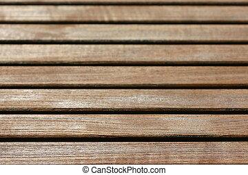pattern of wooden slats