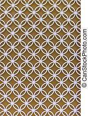 pattern of wrought iron gate element