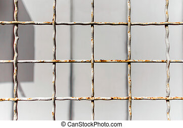 pattern old metal lattice fence