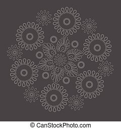 pattern on a gray background