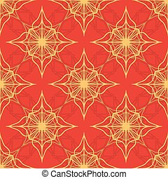 Pattern on a red background