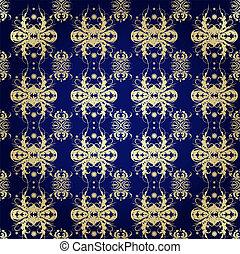 pattern on blue