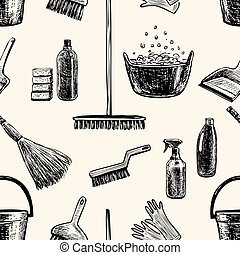 pattern on the theme of cleaning