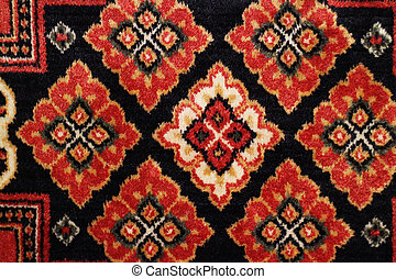 pattern on woolen carpet