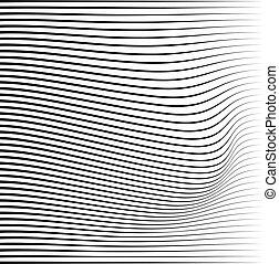 pattern., ondeggiare, ondulato, linee, astratto, fluente,...