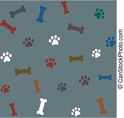 pattern packaging dog bones for shop