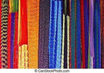 pattern., palette., vibrant, dépouillé, multicolore, tissus, coloré