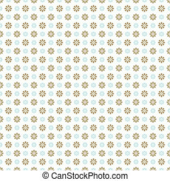 Pattern paper for scrapbook (tiling). Blue, white and brown shabby color. Endless texture can be used for printing onto fabric and paper or scrap booking. Flower abstract shape. Baby wallpaper.