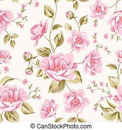 pattern., peonía, lujoso