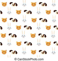 pattern pets cute background