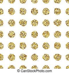 pattern., punt, polka, seamless, schitteren