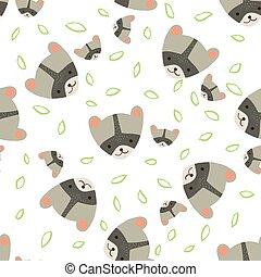 Pattern raccoon